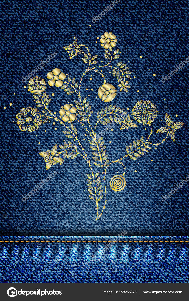 patrón floral bordado — Archivo Imágenes Vectoriales © goldenshrimp ...