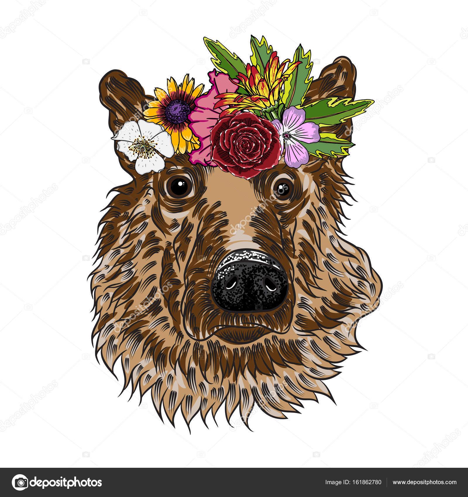 Owczarek Niemiecki Szczeniak Wieniec Kwiatów Grafika