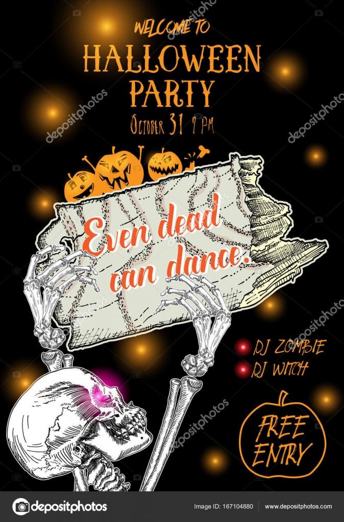 Frases Invitacion Fiesta Halloween Cartel Fiesta De