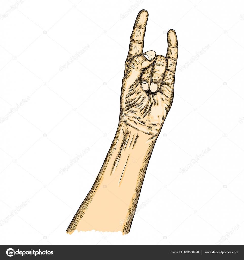 Hand Fist Raised Up Symbol Stock Vector Goldenshrimp 169558928