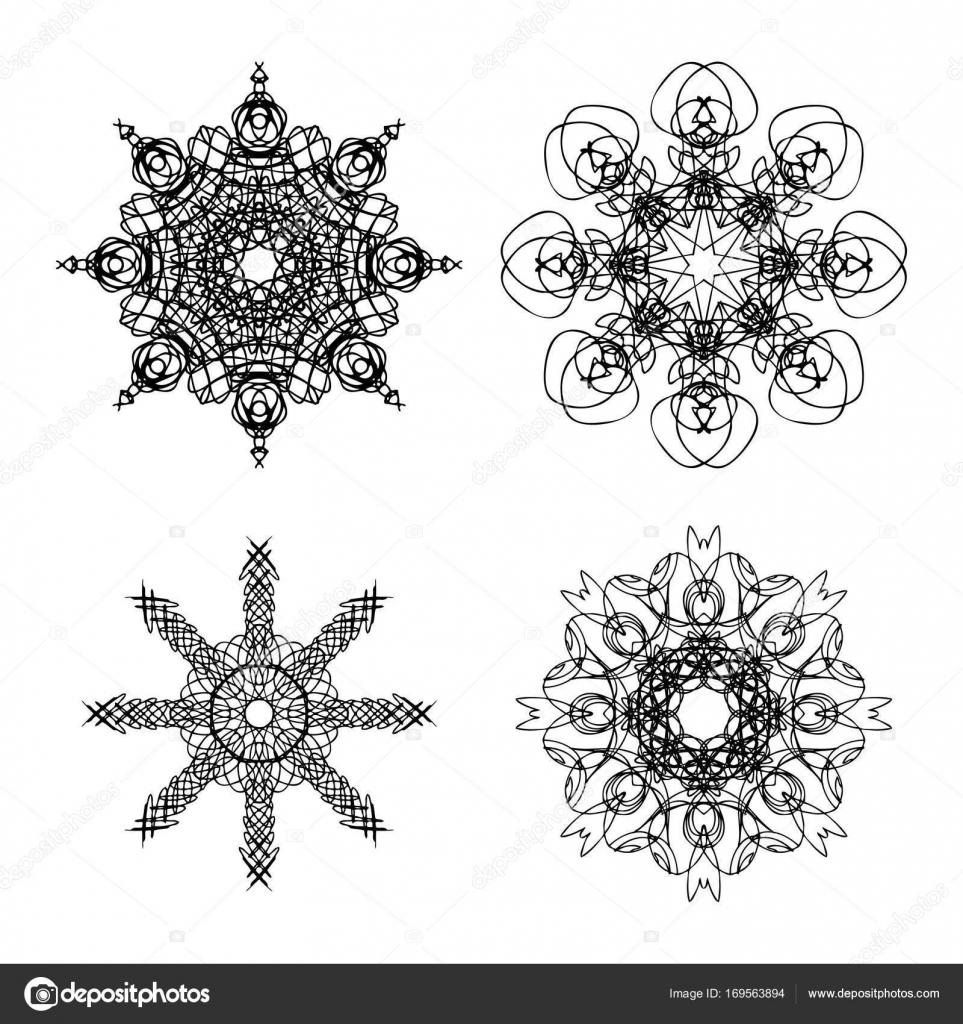 Unalome lotus tattoo designs | Sacred geometry design set