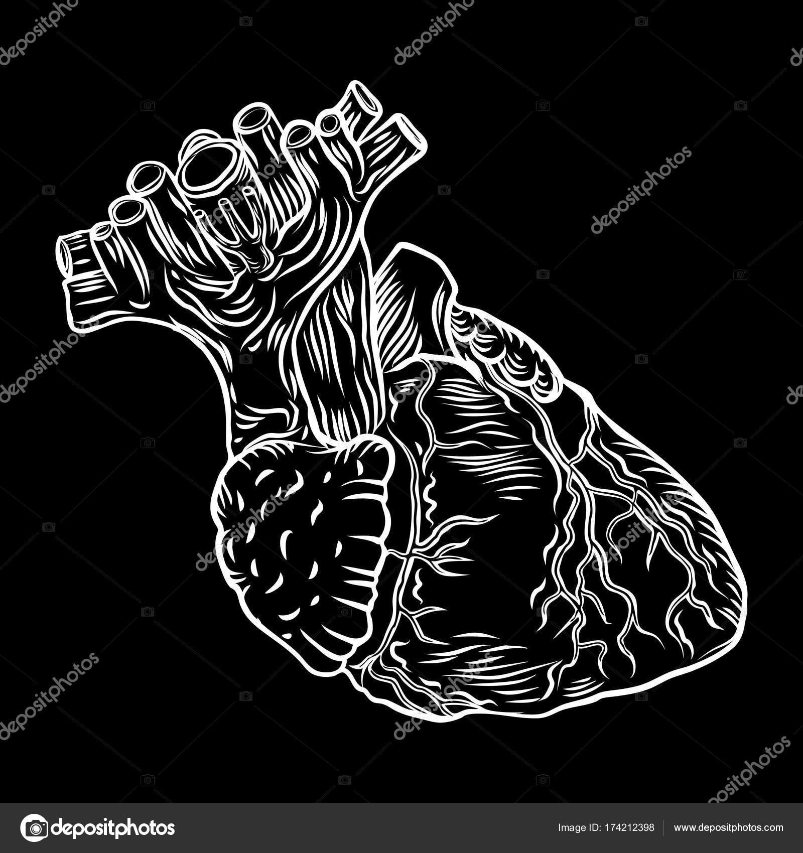 Heart Boho Black Work Dot Work Flesh Tattoo Concept Stock Vector C Goldenshrimp 174212398