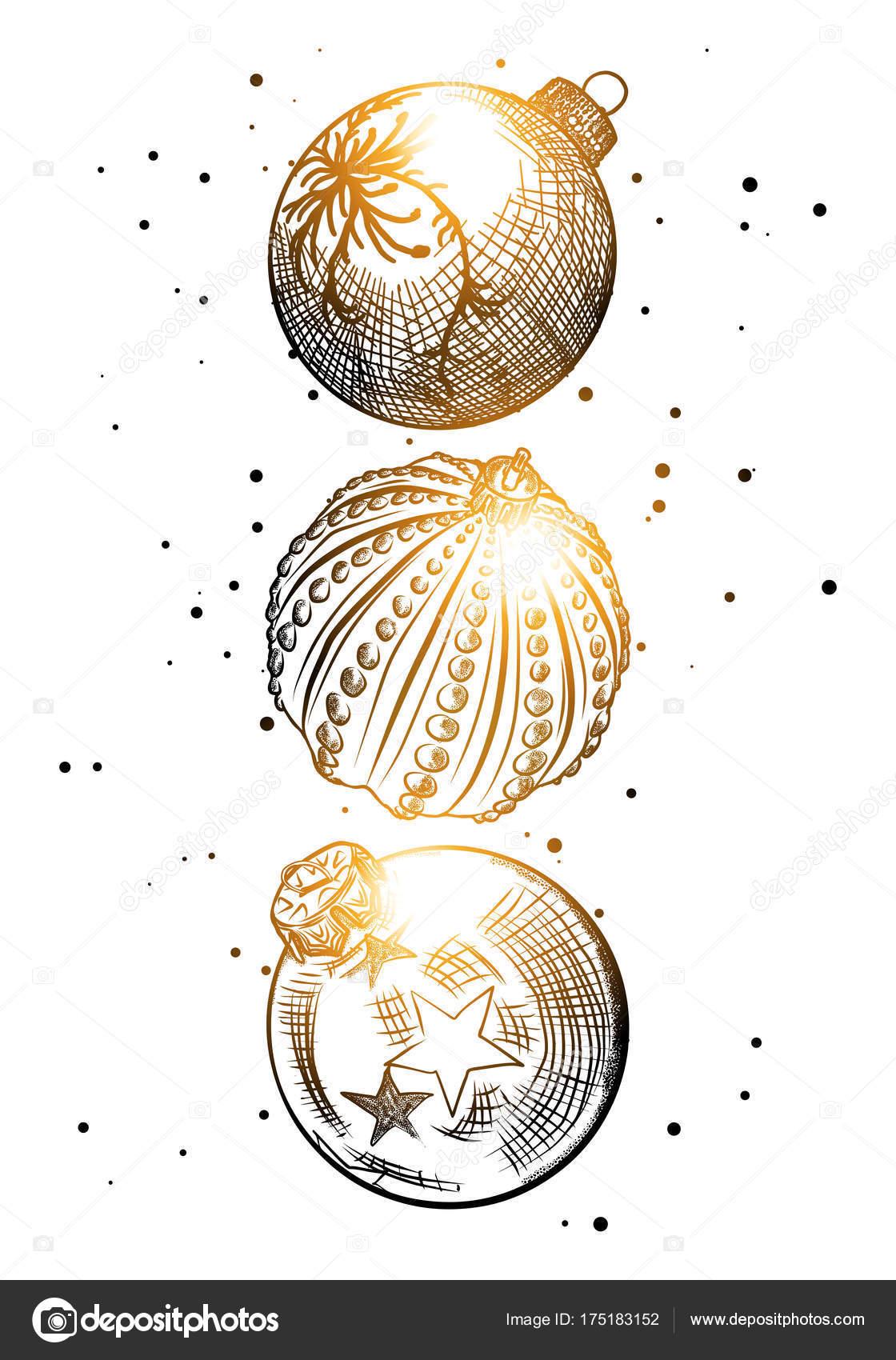 Fondo de Navidad con el brillo de oro para colorear — Vector de ...