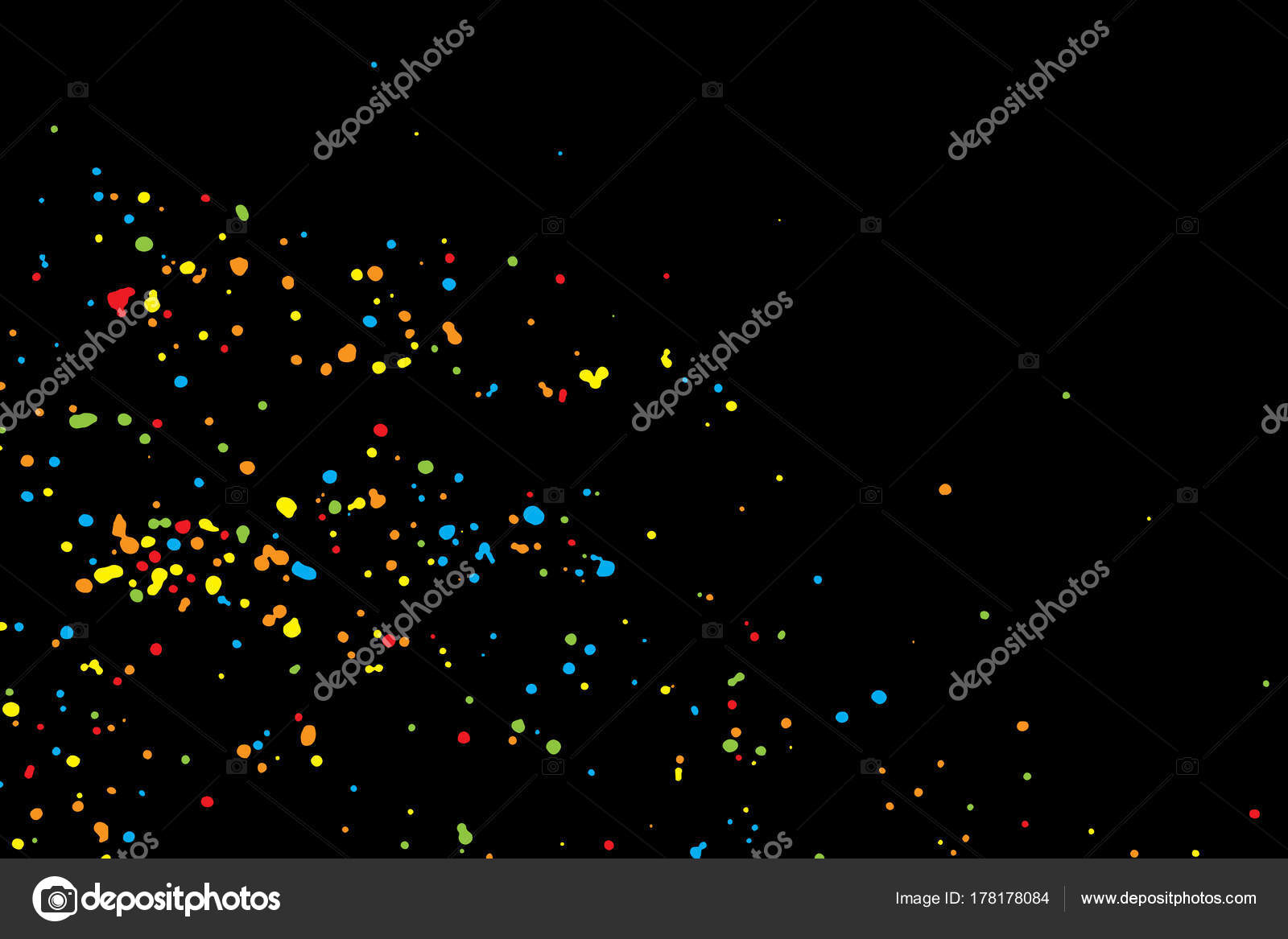 Abstract Color Splash Illustration On Black Background