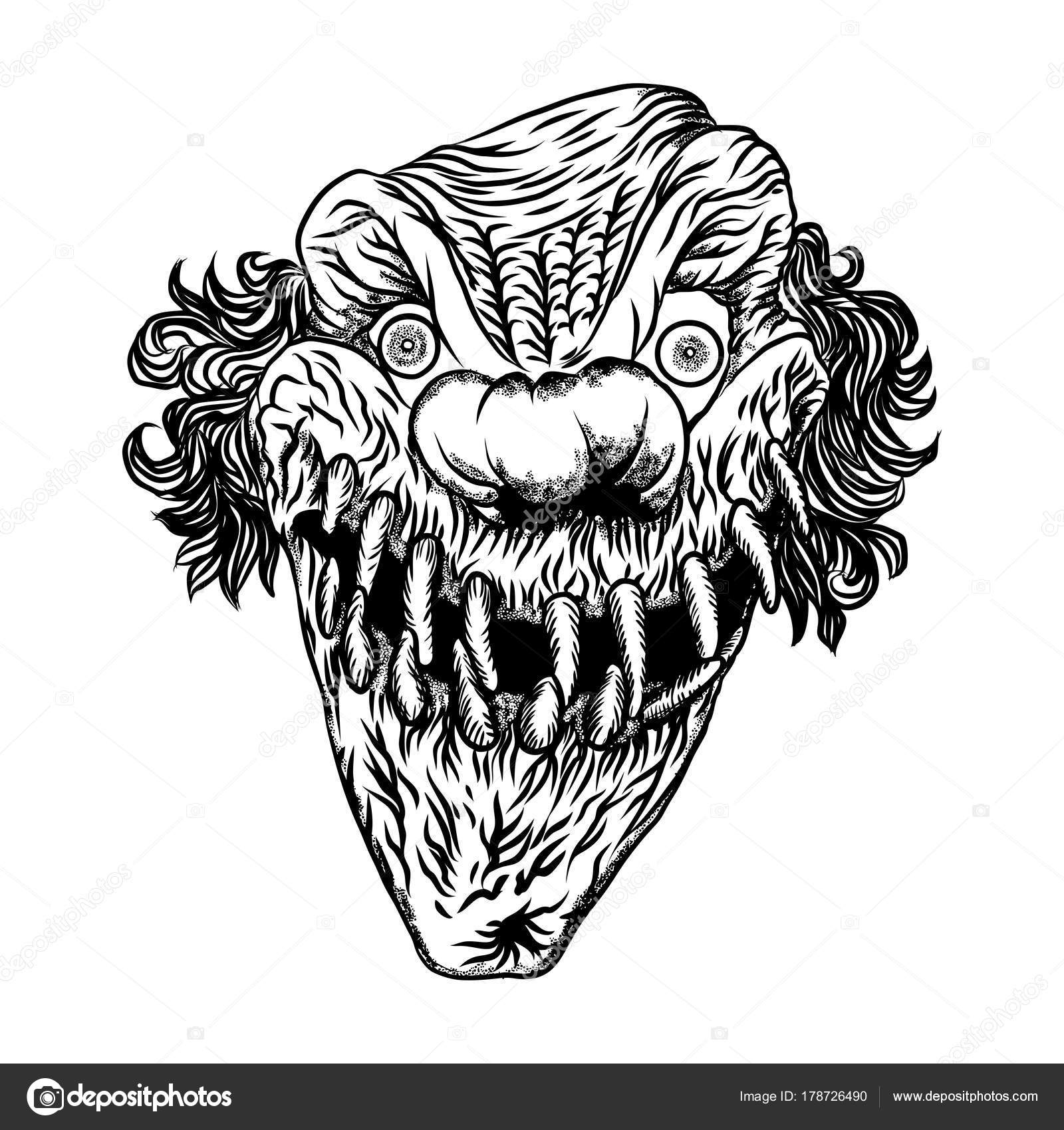 Imágenes Del Payaso Joker Para Colorear Concepto De
