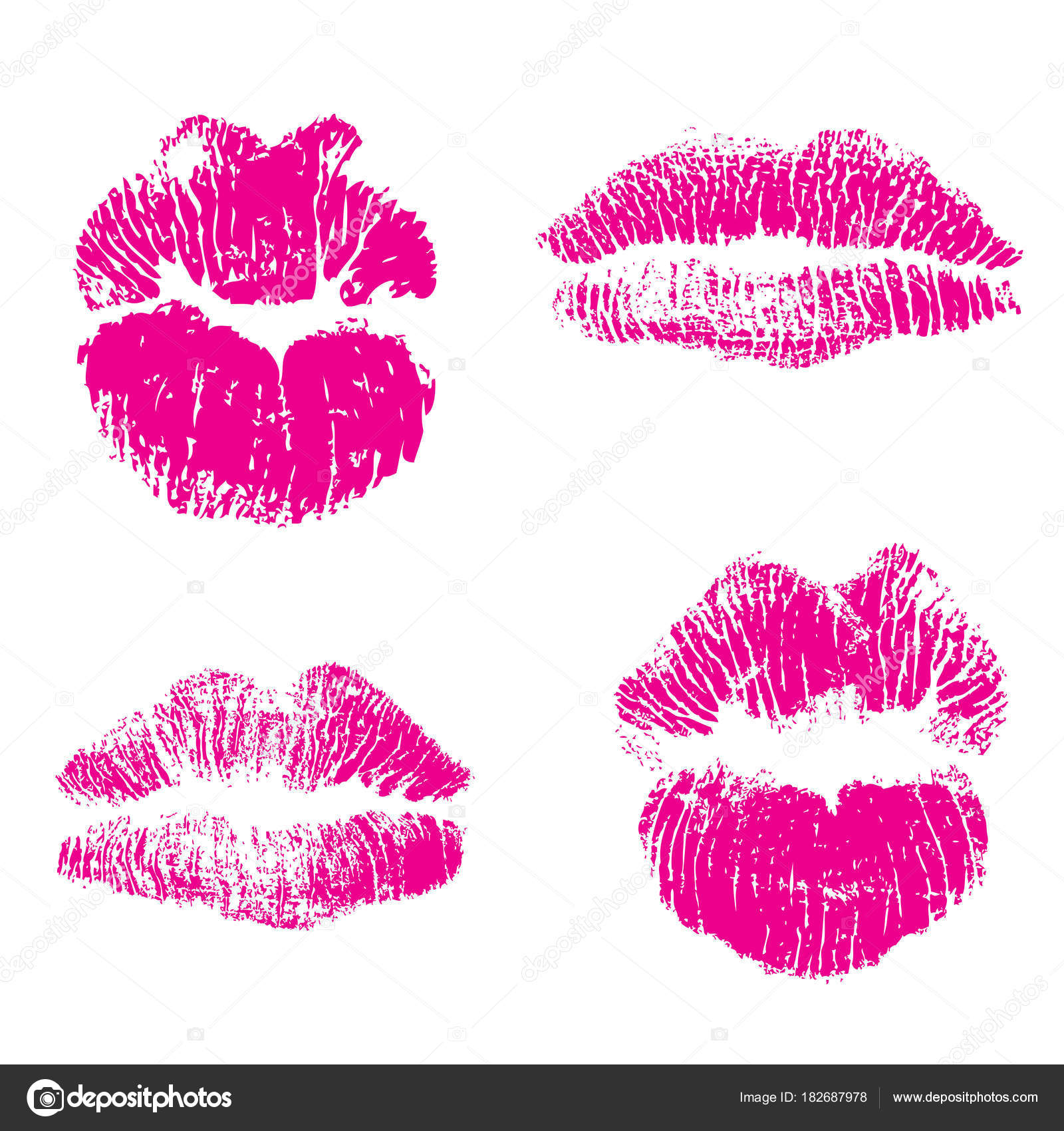480ce36181 Set of fashion beauty women lips isolated on white background. — Stock  Vector
