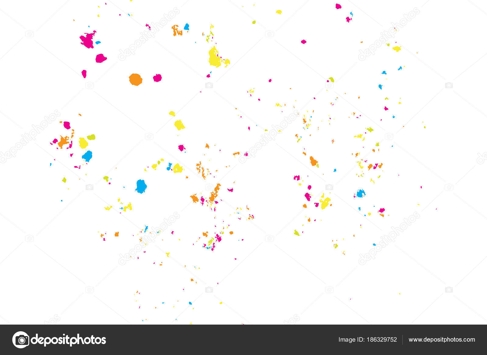 Farbe Splatter Hintergrund Bunte Explosion Der Farben Körnig ...