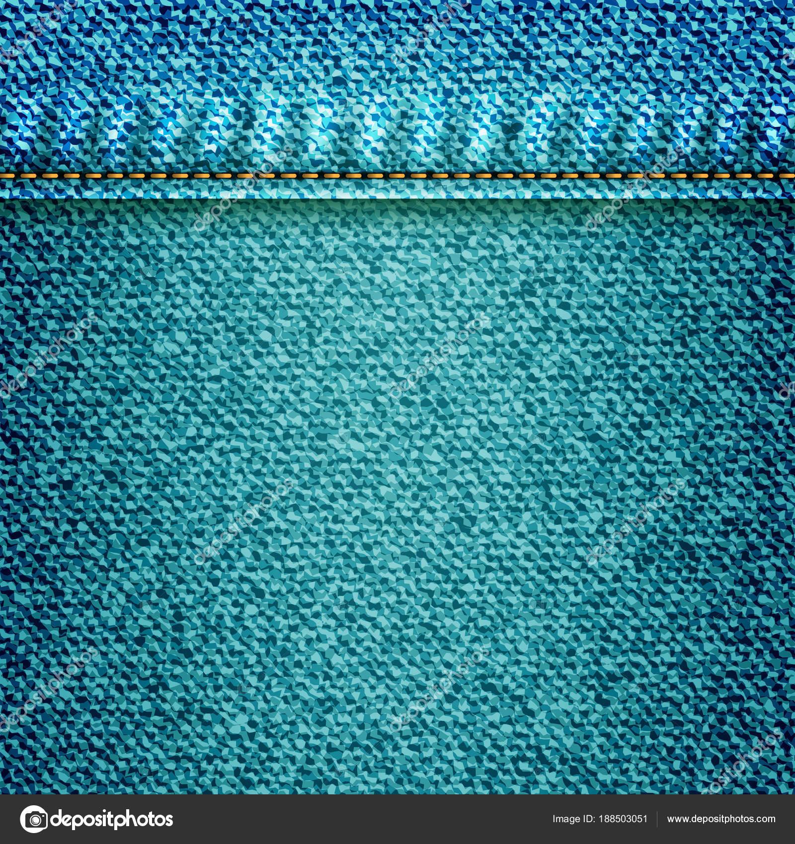 726ef8e2 Jeans ilustração, azul jeans fundo com bolso ou textura border elemento.  Padrão de superfície geométrica da sarja de Nimes para flyers. Resumo efeito  ...