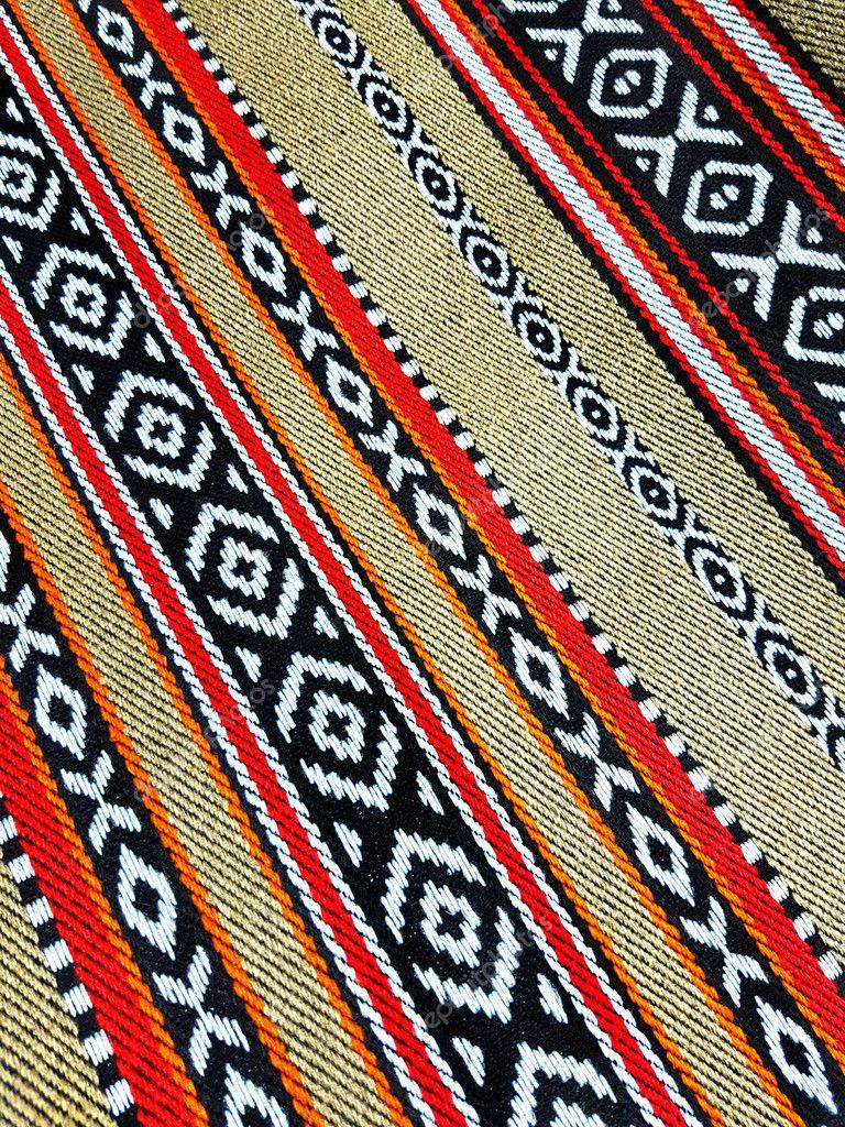 Beige Arabischen Sadu Teppich Weben Muster Nahaufnahme Stockfoto
