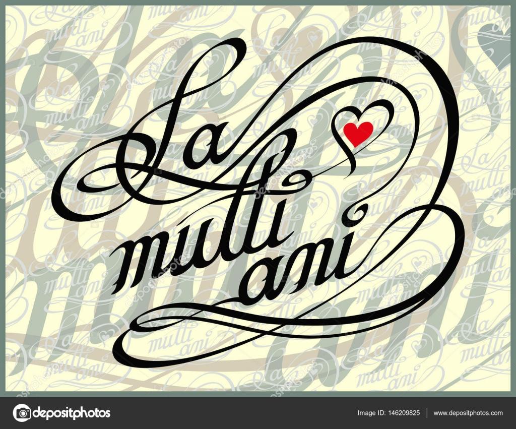 Rumanische Happy Birthday Kalligraphie Card