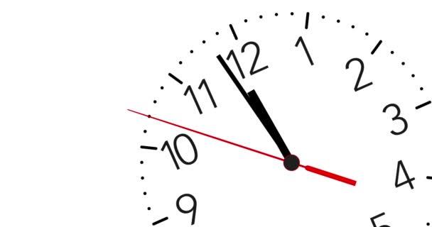 4 Reloj Animado K Corriendo Hacia La 12:00