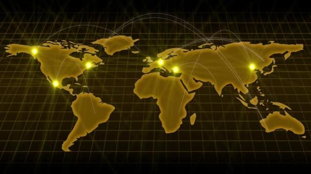 Earth mapy kontinentů obchodu a komunikace