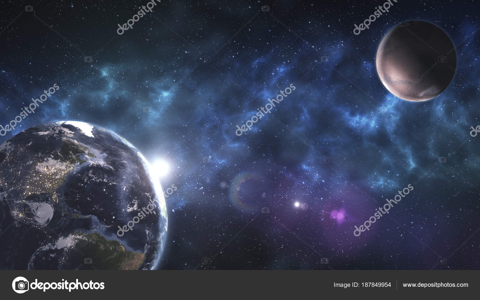 Space Fantasy Art Wallpaper Space Art Incredibly Beautiful Science Fiction Wallpaper Endless Universe Elements Of This Image Furnished By Nasa Stock Photo C Unitxi 187849954