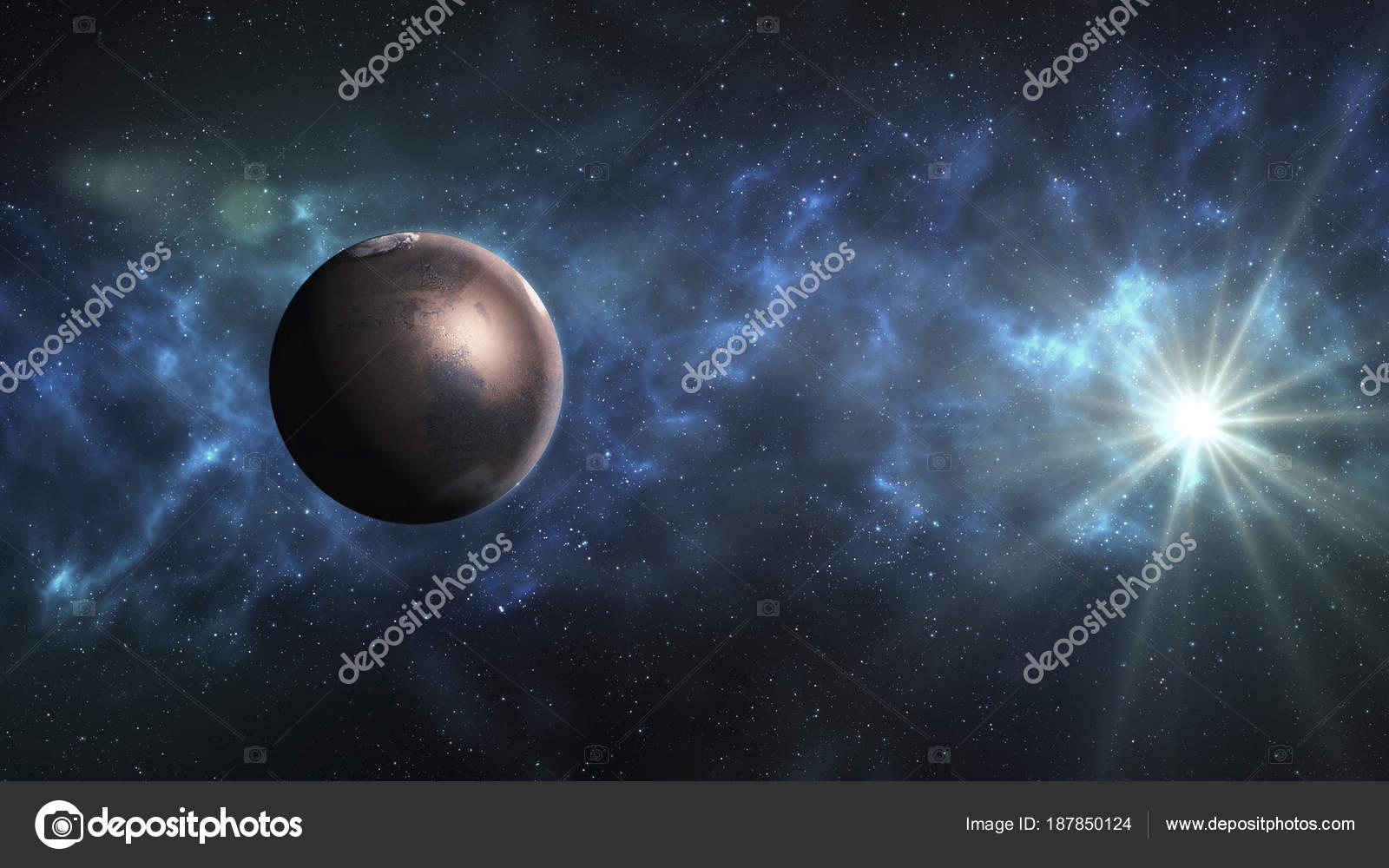 Sistema solar - Marte. Es que el cuarto planeta desde el domingo ...