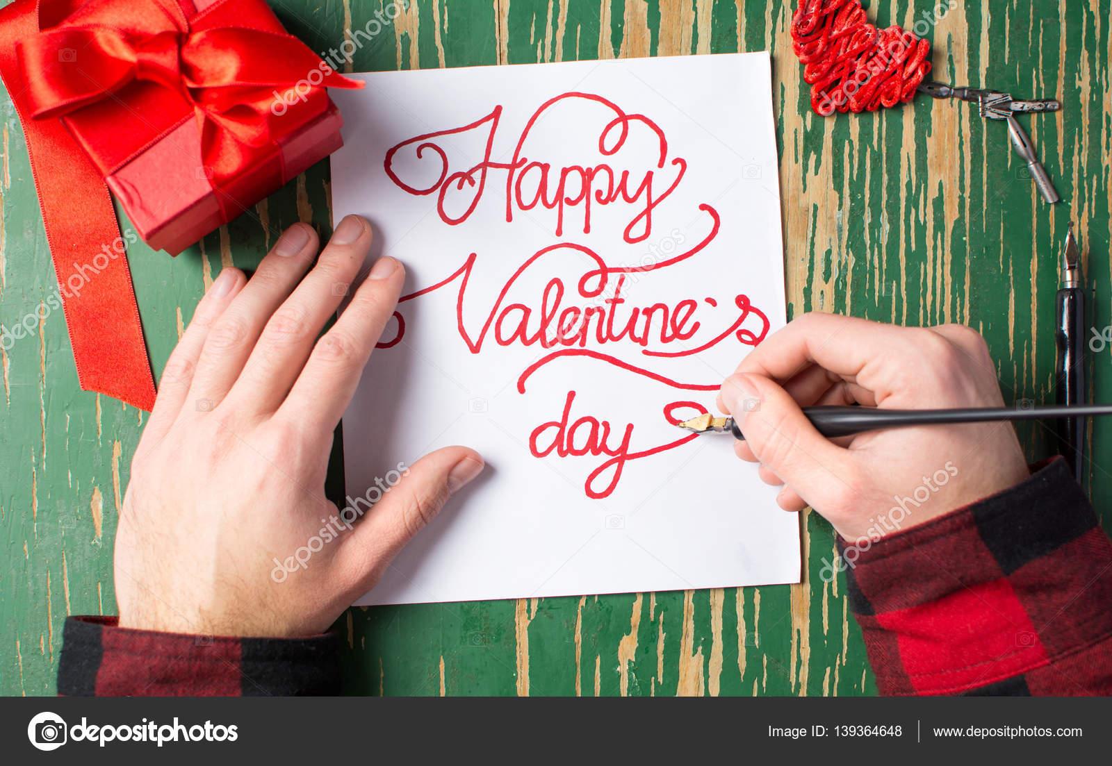 Was schreibt man in eine valentinstag