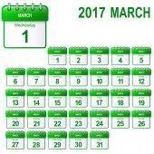 volné listy kalendář