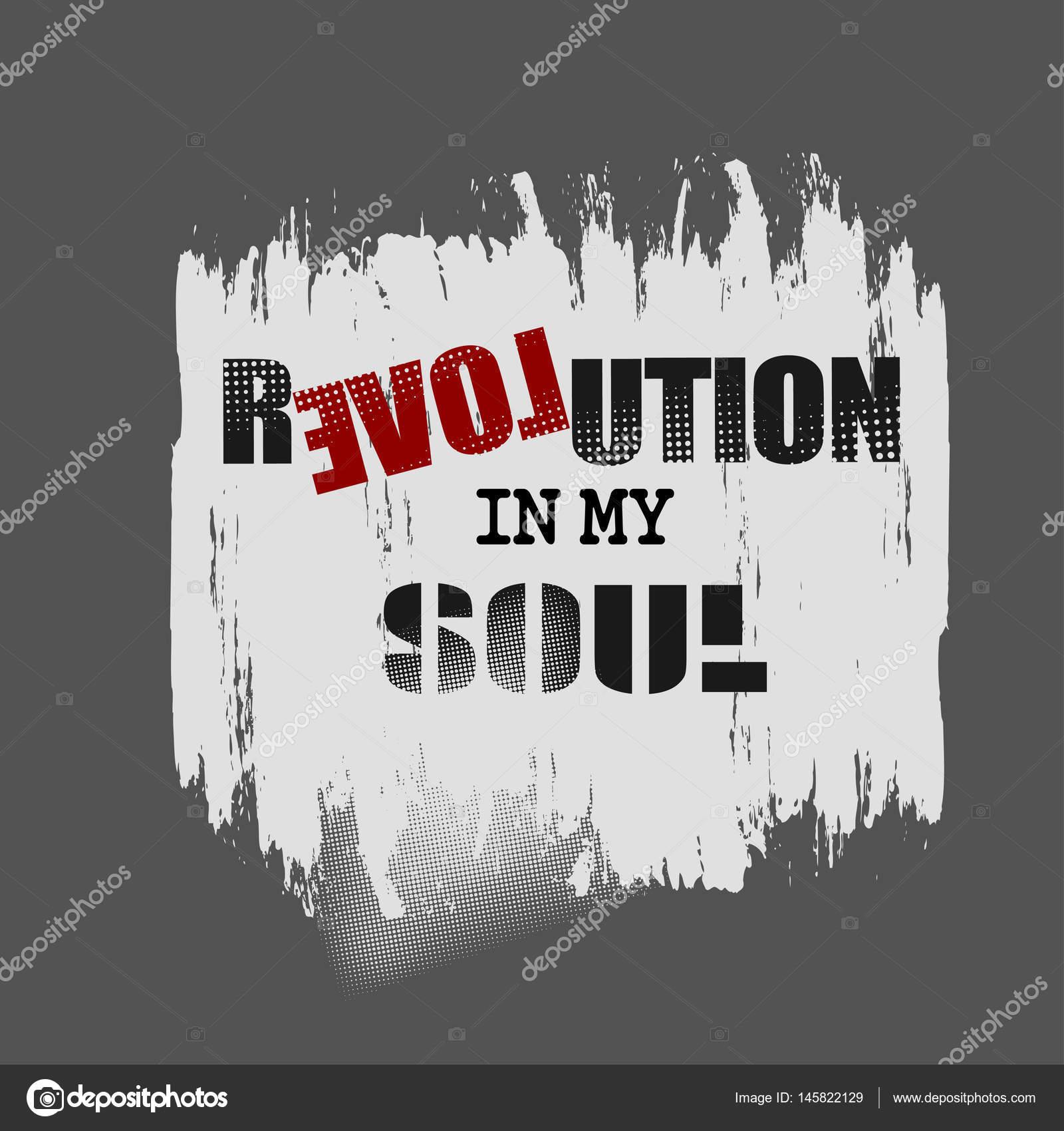 Illustration Vectorielle Avec L'expression « Révolution