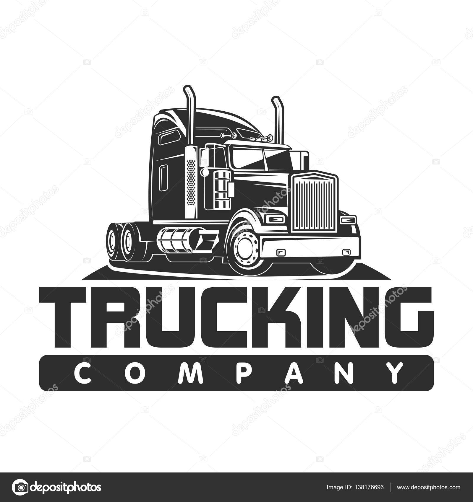 trucking company logos  trucking company logo black and white vector illustration — Stock ...