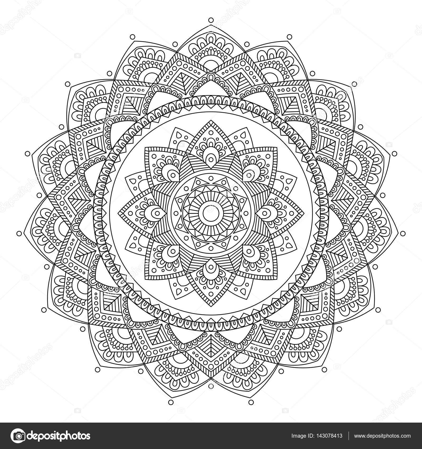 Imágenes: la india para colorear   Mandala. India medallón
