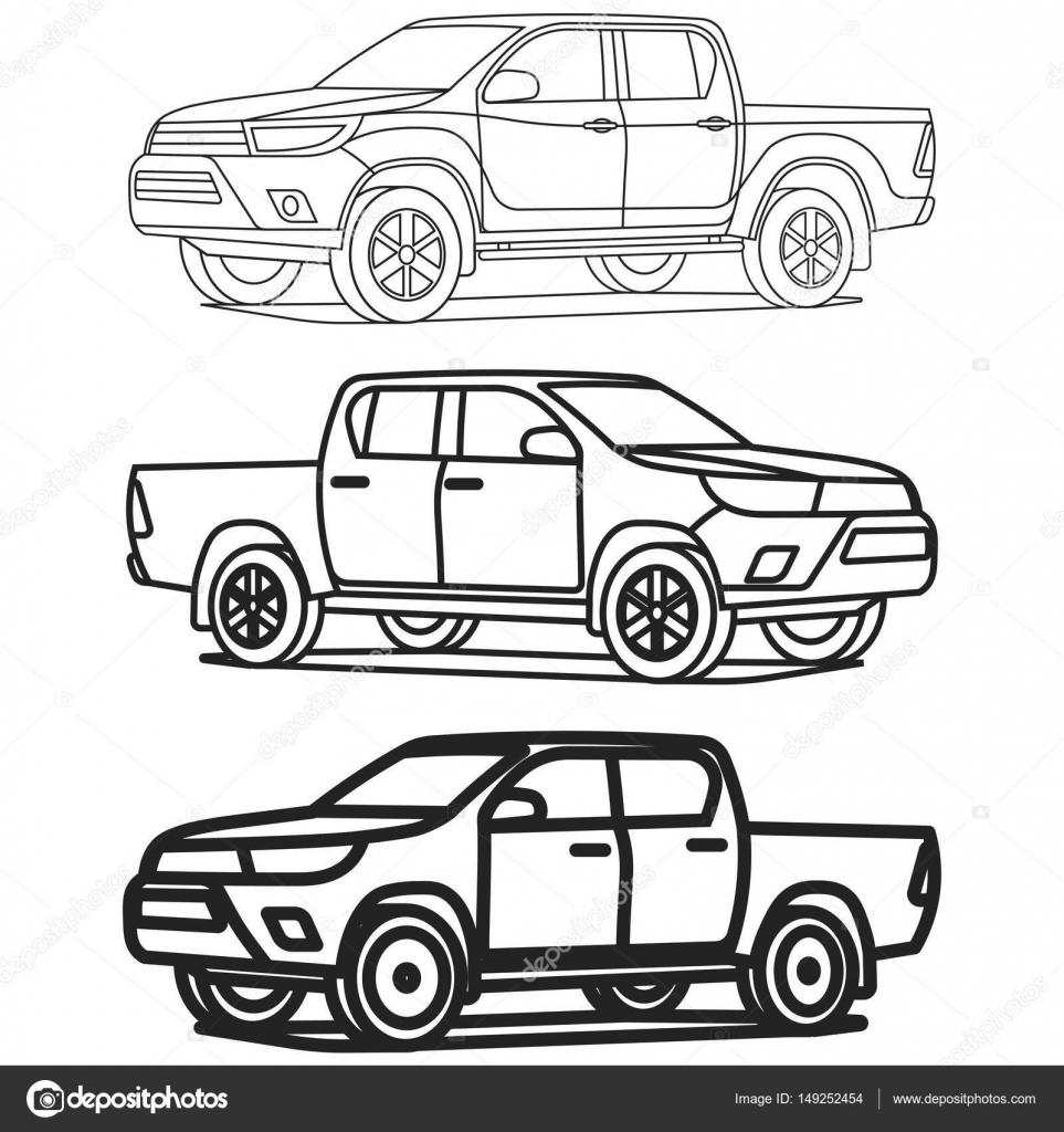 vector  camioneta dibujo