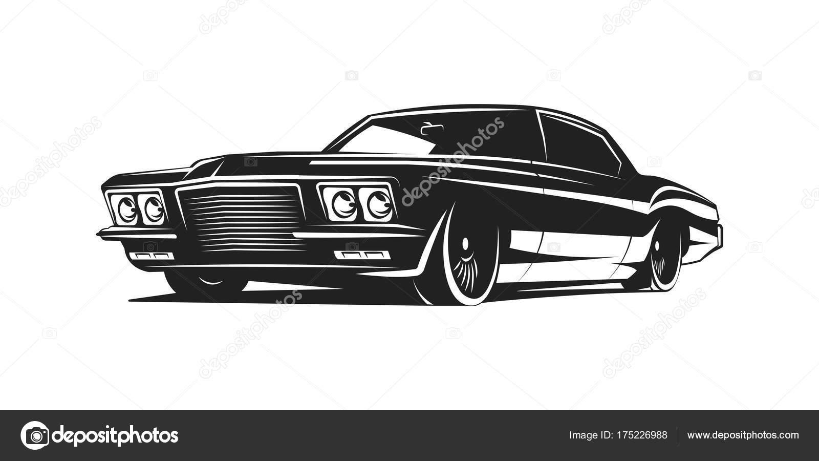 Muscle car vector poster — Stock Vector © galimovma79 #175226988