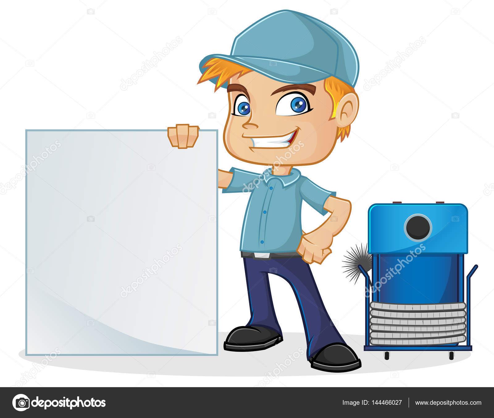 HLK-Techniker mit leere Schild — Stockvektor © bamztoon #144466027