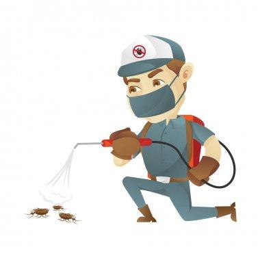 Pest control service killing bugs