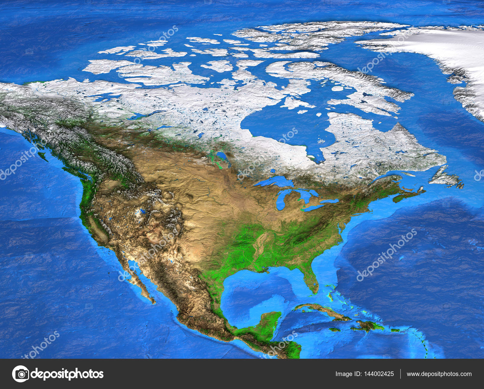 High resolution world map focused on north america stock photo detailed satellite view of the earth and its landforms north america map elements of this image furnished by nasa photo by titoonz gumiabroncs Gallery
