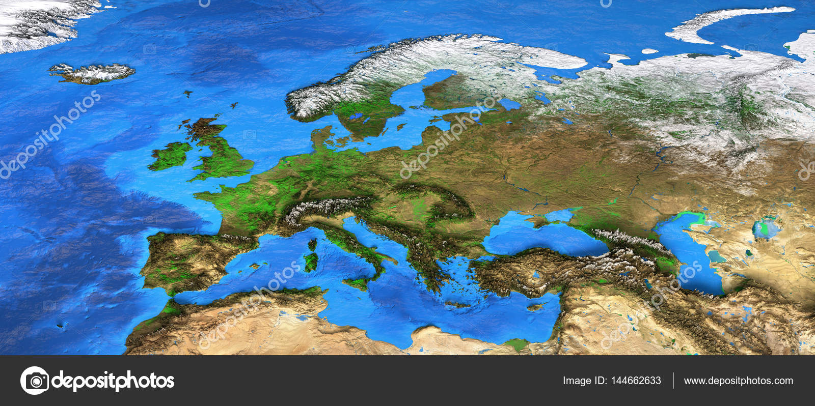 High resolution world map focused on europe stock photo titoonz detailed satellite view of the earth and its landforms europe map elements of this image furnished by nasa photo by titoonz gumiabroncs Choice Image
