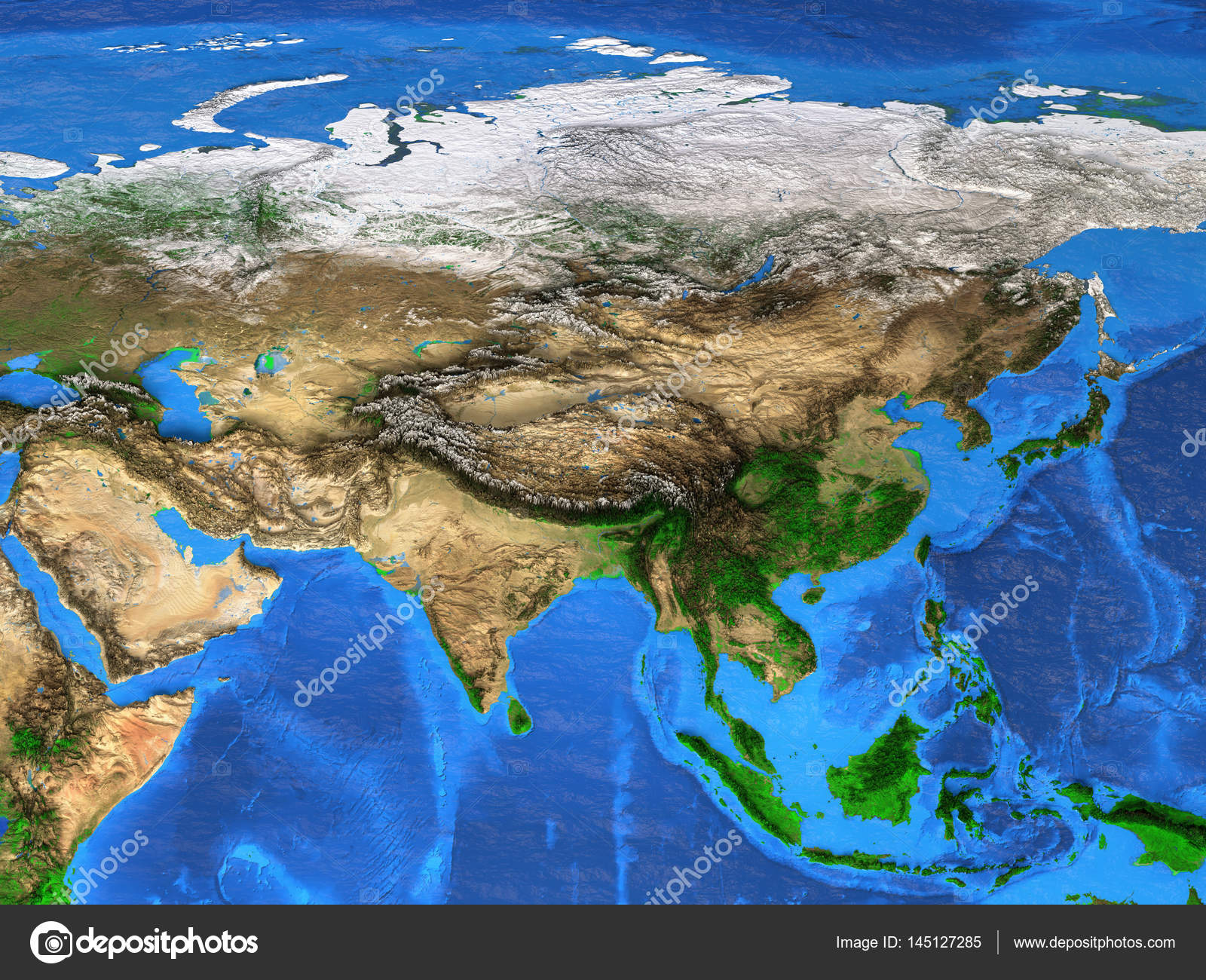 High resolution world map focused on Asia — Stock Photo ... on wallpaper desktop world map, home world map, high quality world map, word world map, html world map, the best vector world map,