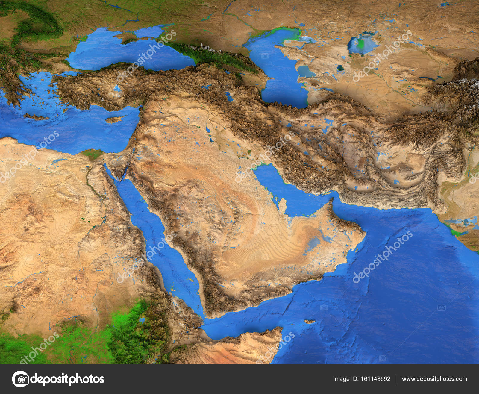 Middle East - High resolution map — Stock Photo © titoOnz #161148592