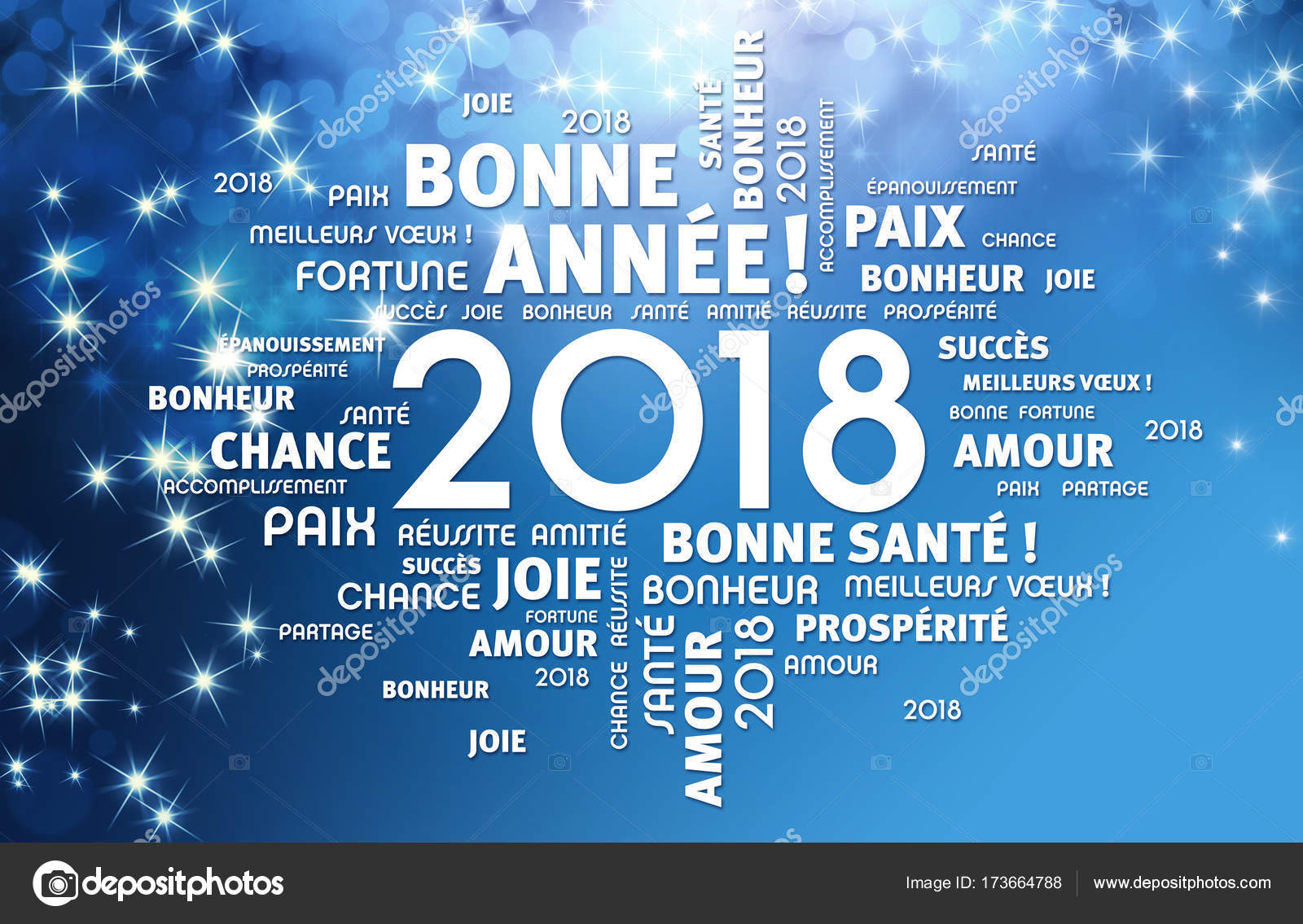 New Year 2018 Greeting Card In French Stock Photo Titoonz 173664788