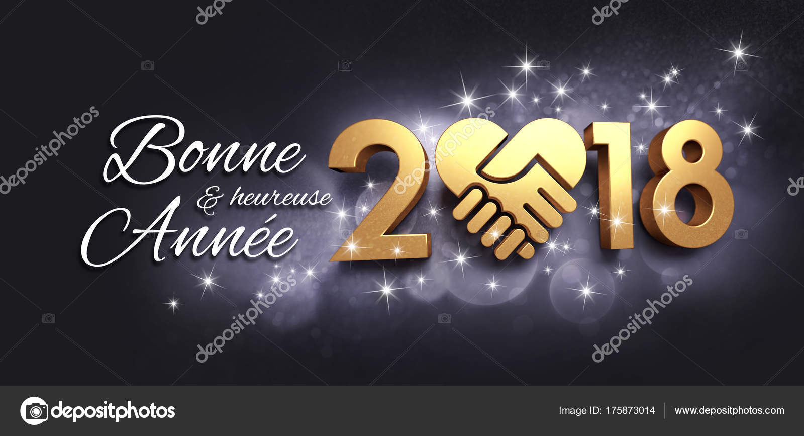 New Year 2018 Greeting Card In French Stock Photo Titoonz 175873014