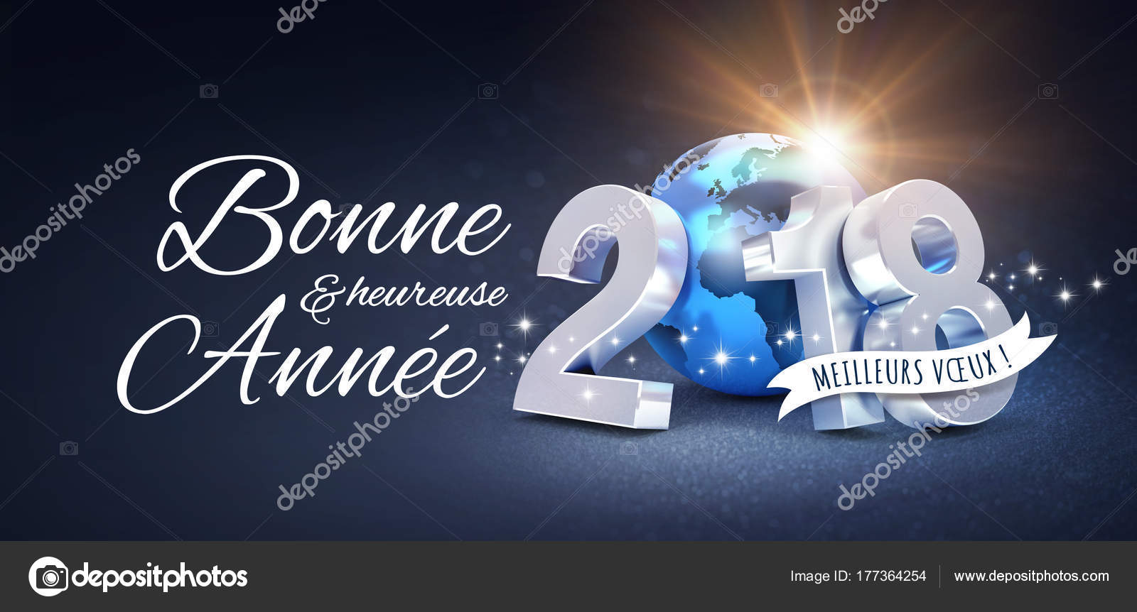 New Year 2018 Greeting Card In French Stock Photo Titoonz 177364254