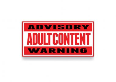 adult content warning banner
