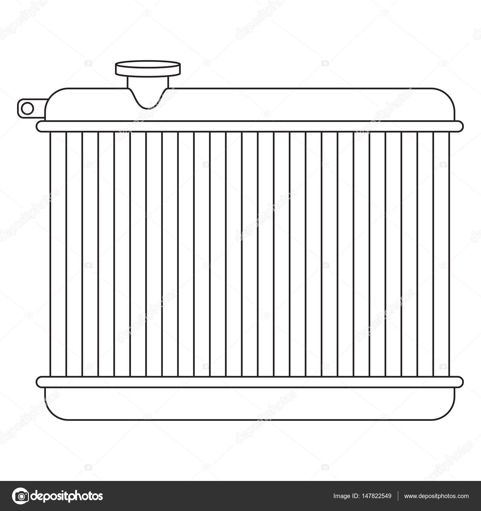 Car radiator line drawing stock vector vectorielle for Radiador dwg