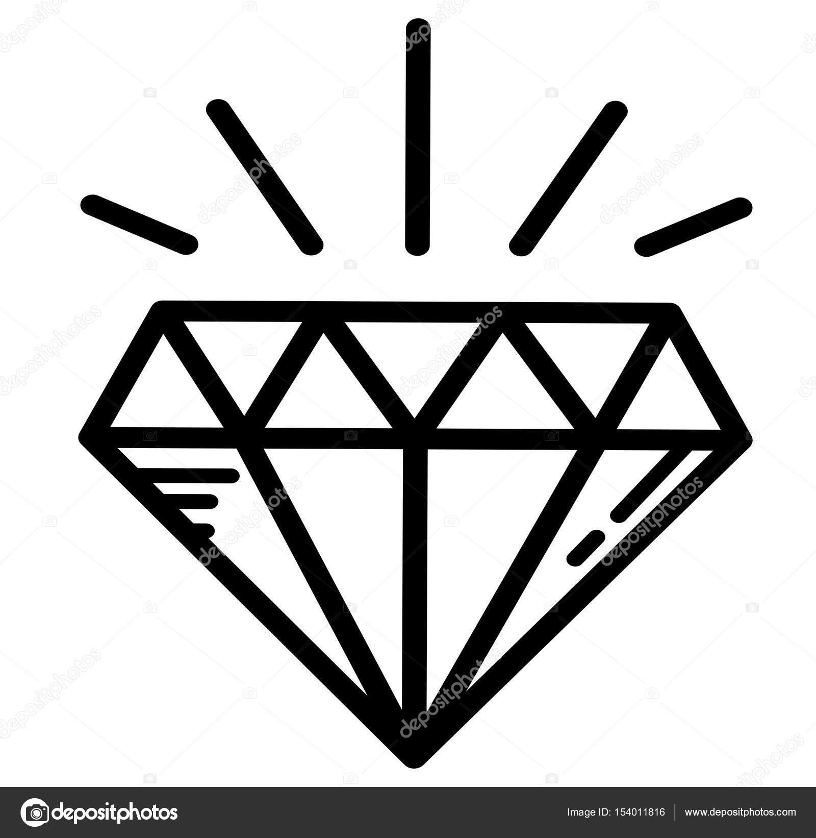 Luksusowy Tatuaż Diament Jasne Grafika Wektorowa Littlemagic