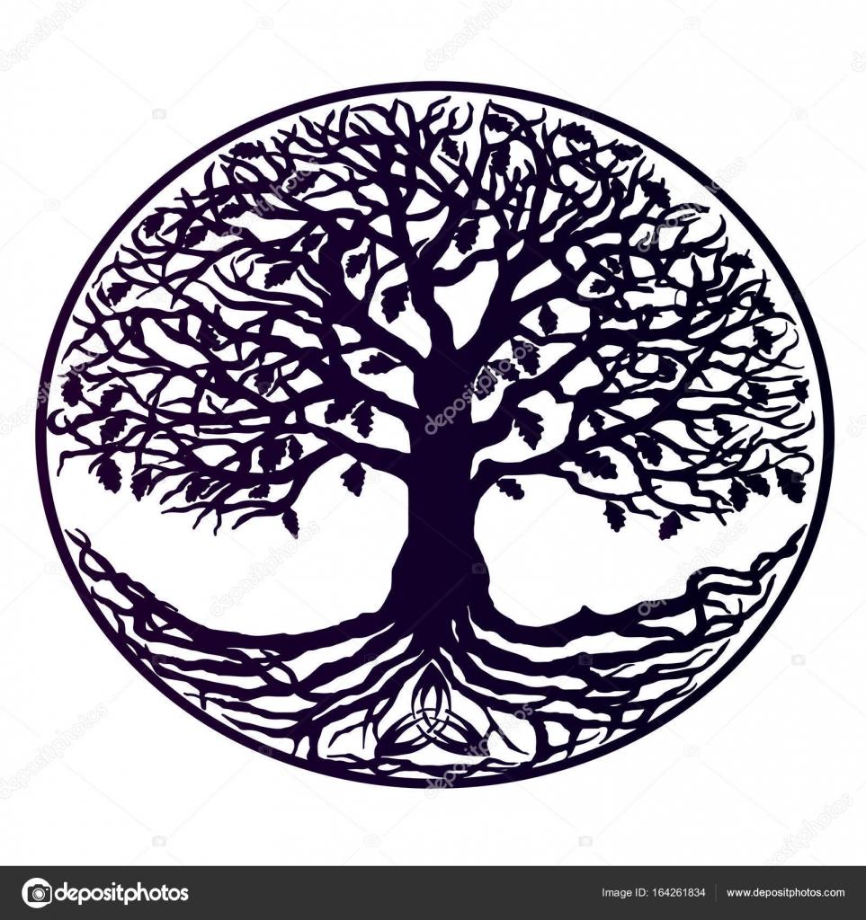 Arbol De La Vida Blanco Y Negro Tatuaje árbol De La Vida Violeta