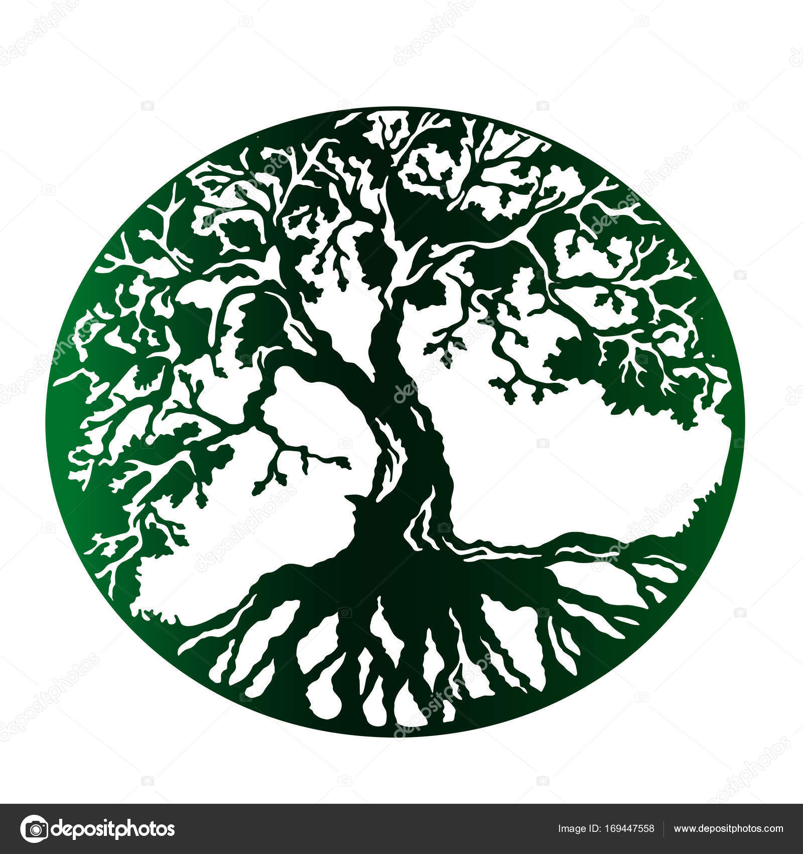 green tree of life isolated vector stock vector littlemagic rh depositphotos com tree of life vector file tree of life vector art