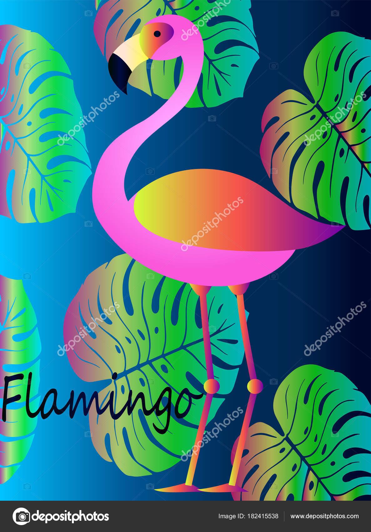 Sfondo Fenicotteri Cellulare Fenicottero Rosa Tropicale Con
