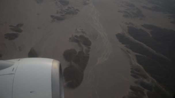 Egyptské pouště. Pohled z letadla
