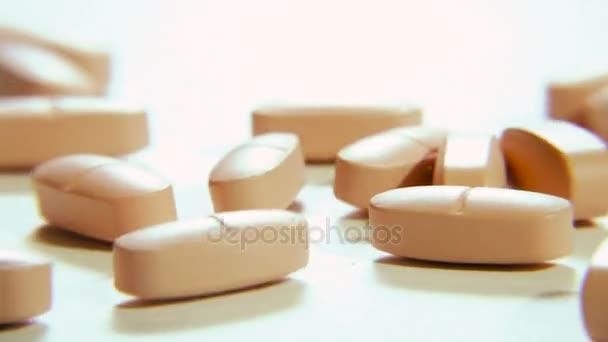 Pills. Different tablets shot large
