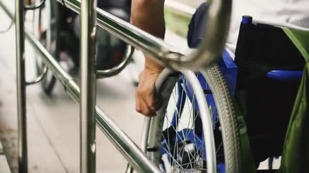 Rollstuhl. Rollstuhl für Menschen mit Behinderungen.