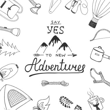 Say yes to new adventures with painted camping and outdoor doodles