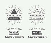 Fotografie Set of vintage camping outdoor and adventure logos, badges