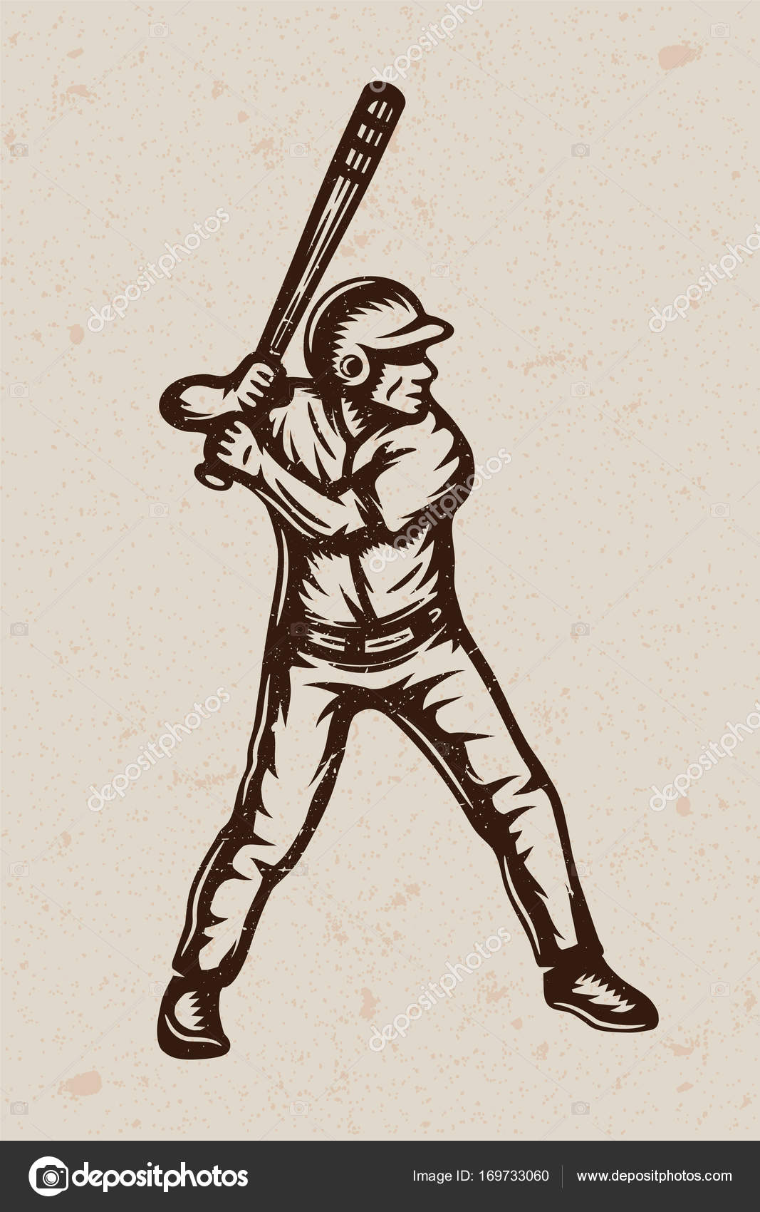 Vintage Baseball Poster Template Banner In Retro Style Graphic Art Vector Illustration By De Malia
