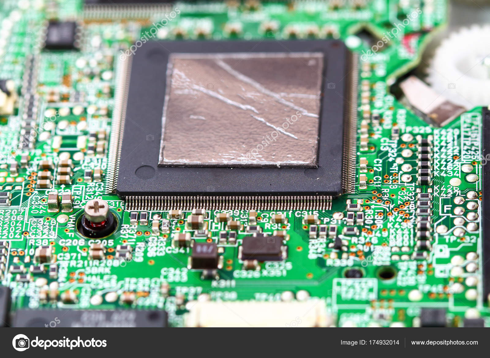 Closeup Electronic Circuit Board Stock Photo Tcareob72 174932014 Boards Assembly Royalty Free Image Background By