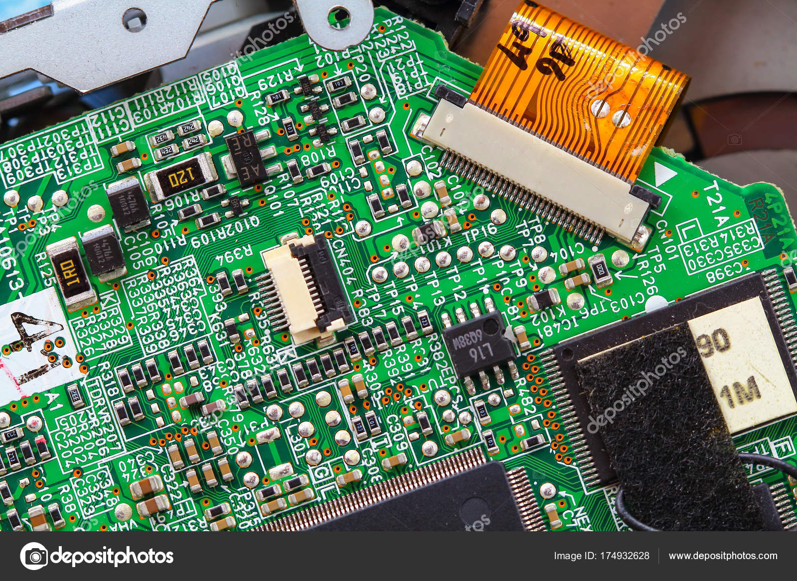 Closeup Electronic Circuit Board Stock Photo Tcareob72 174932628 Electronics Background By