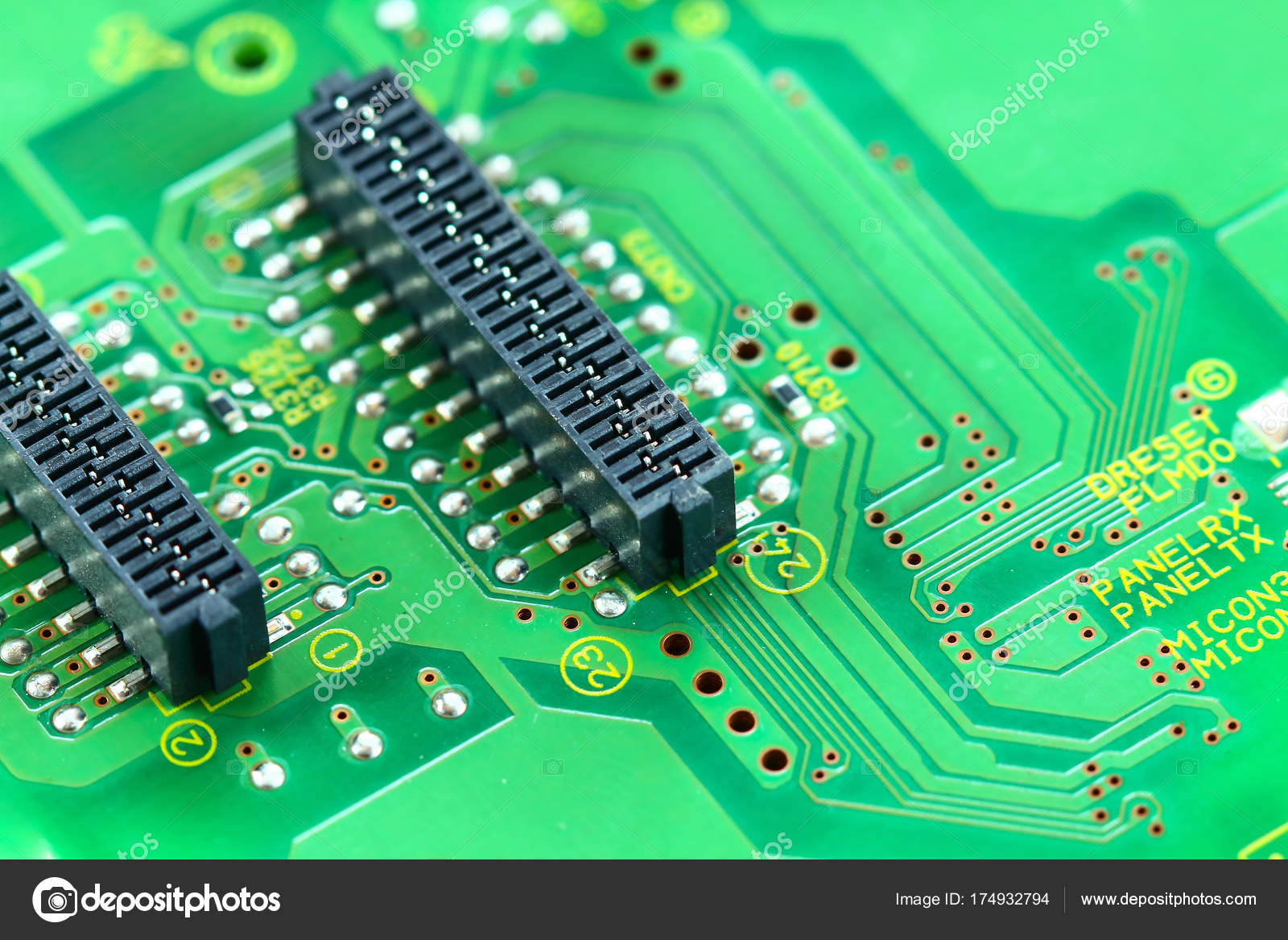 Closeup Electronic Circuit Board Stock Photo Tcareob72 174932794 Boards Assembly Royalty Free Image Background By