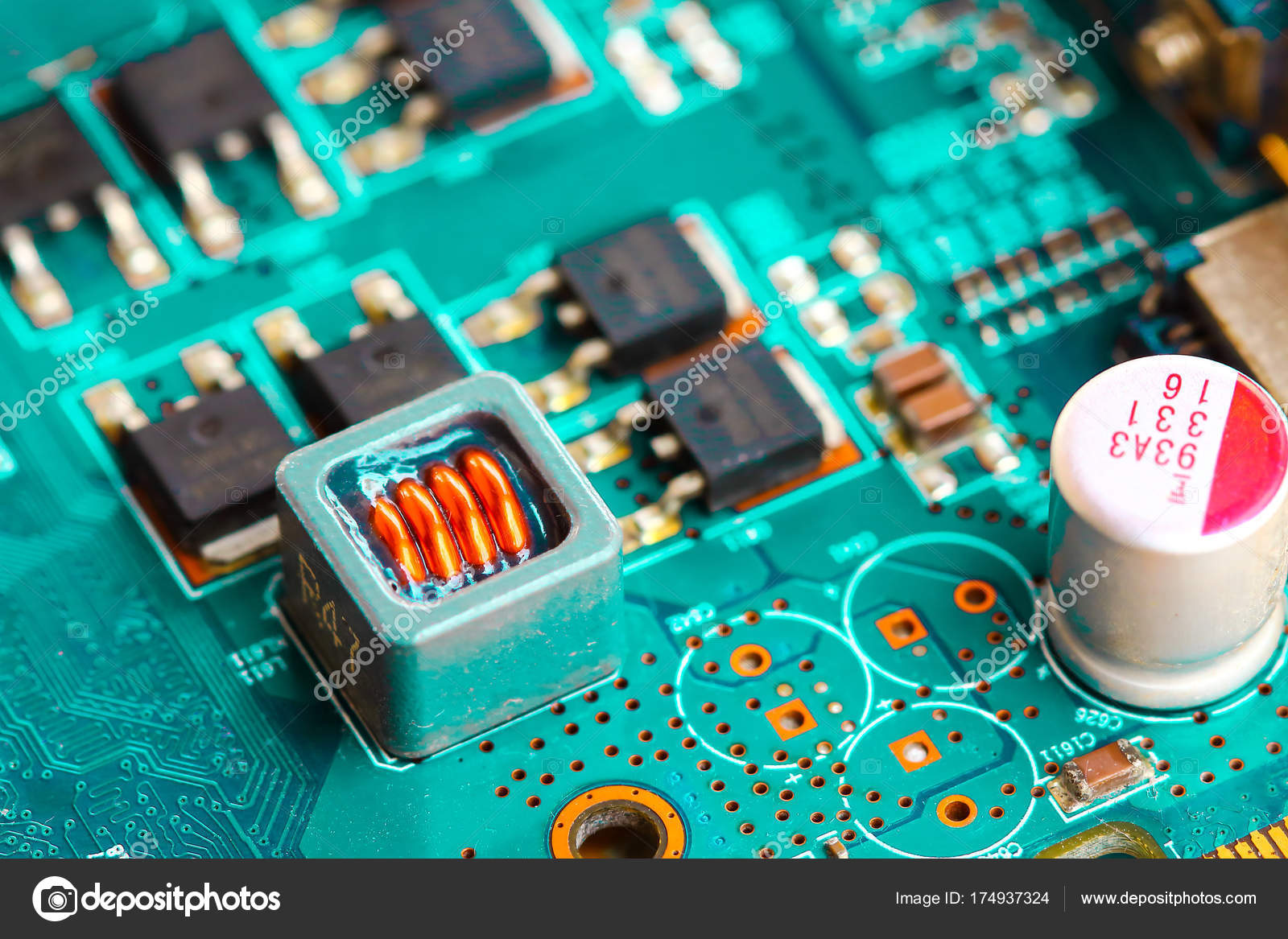Closeup Electronic Circuit Board Stock Photo Tcareob72 174937324 Repairing Computer Royalty Free Image Background By